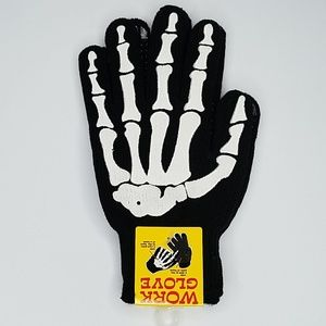 Halloween skeleton Hands bone gloves adult Bin12